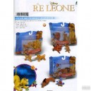 RE LEONE  - personaggi  floccati  5 cm. - blister